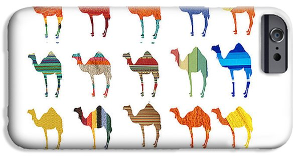 Young iPhone Cases - Camels iPhone Case by Sheela Ajith