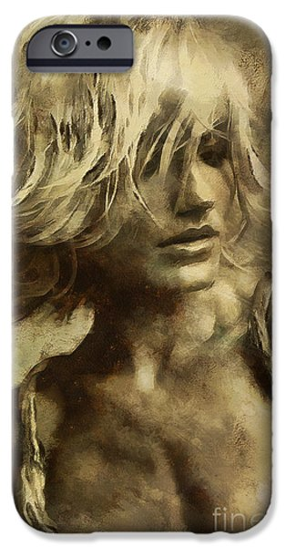 Michelle iPhone Cases - Cameron Michelle Diaz iPhone Case by Sergey Lukashin