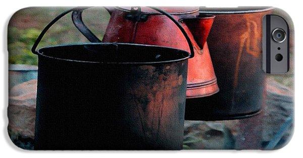 Digital Art Pastels iPhone Cases - Campfire H b iPhone Case by Gert J Rheeders