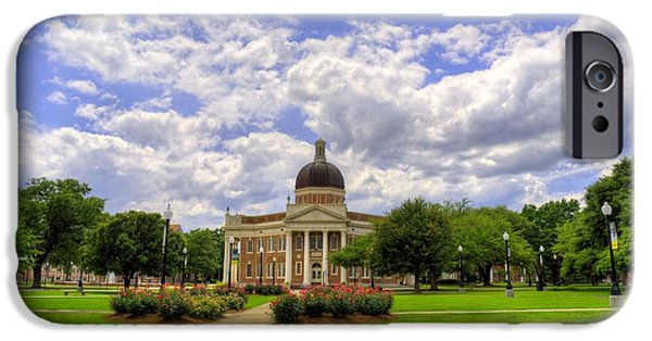 Hattiesburg iPhone Cases - Campus Life at Southern Miss iPhone Case by JC Findley