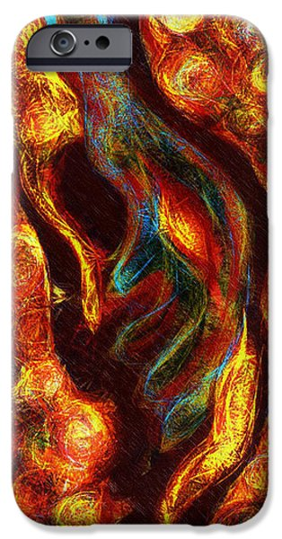 Abstract Forms iPhone Cases - Can You See It iPhone Case by Aurora Art