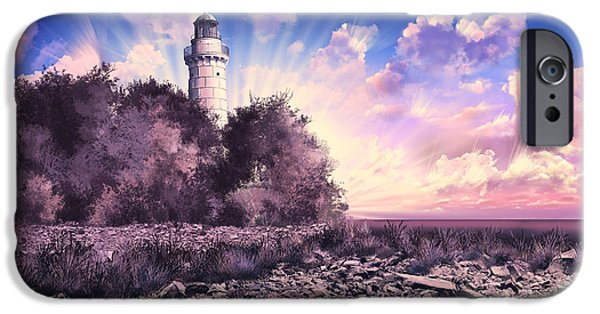 Bailey Island iPhone Cases - Cana Island Lighthouse iPhone Case by MB Art factory