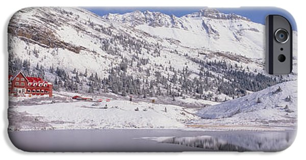 Snowy Day iPhone Cases - Canada, Alberta, Jasper National Park iPhone Case by Panoramic Images