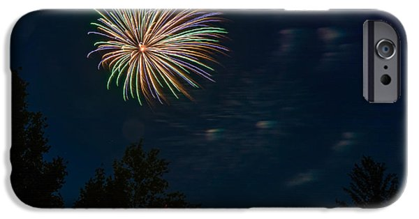 Fireworks iPhone Cases - Canada Day 2 iPhone Case by Steve Harrington