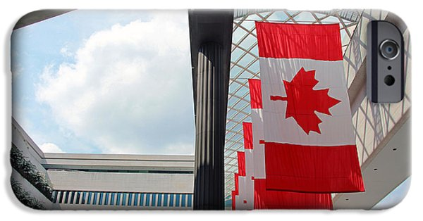 Cora Wandel iPhone Cases - Canada Day At The Canadian Embassy iPhone Case by Cora Wandel