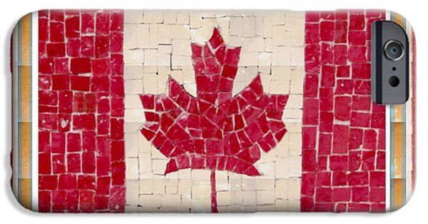 Diy iPhone Cases - Canada Golory Decorations  Proud Canadian Flag  artistic version sizes colors and image   iPhone Case by Navin Joshi