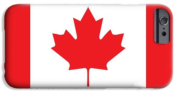 Canada Paintings iPhone Cases - Canadian Flag iPhone Case by Unknown