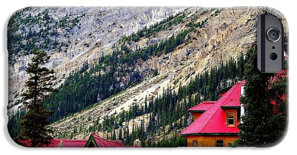 Cabin Window iPhone Cases - Canadian Red iPhone Case by Karen Wiles