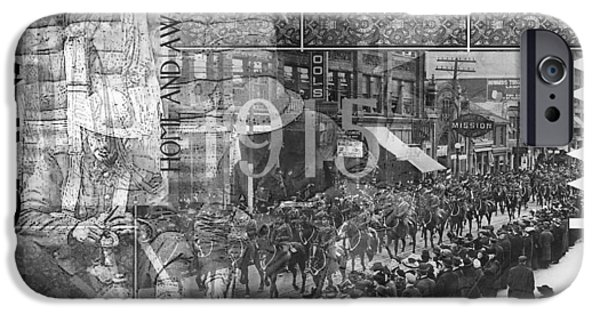 Wwi iPhone Cases - Canadian WWI Nostalgic Collage iPhone Case by Ruth Palmer