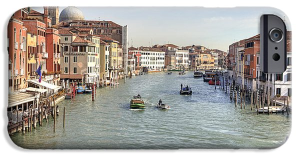 Waterway iPhone Cases - Canal Grande Venice iPhone Case by Joana Kruse