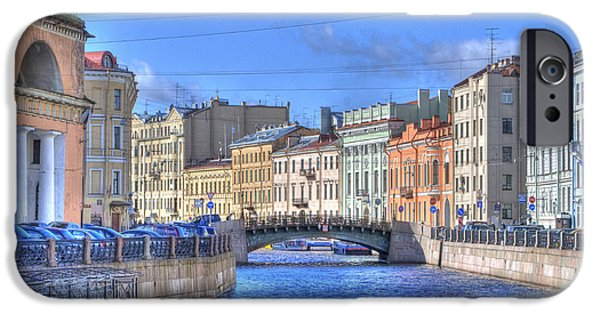 St. Petersburg iPhone Cases - Canal in St. Petersburgh RUSSIA iPhone Case by Juli Scalzi