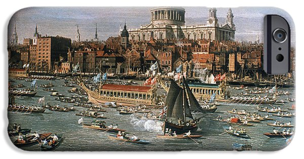 18th iPhone Cases - CANALETTO: THAMES, 18th C iPhone Case by Granger