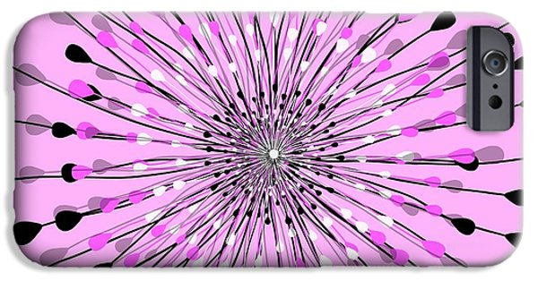 Abstracted Tapestries - Textiles iPhone Cases - Candi iPhone Case by Sharon Johnston