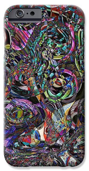 Interpretive iPhone Cases - Candy Abstract iPhone Case by Lori Seaman