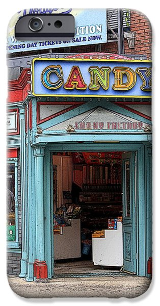 Candy Store Cartoon iPhone Case by Sophie Vigneault