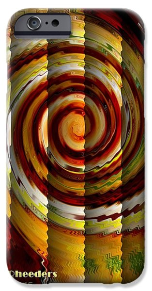 Digital Art Pastels iPhone Cases - Candy Swirl V a iPhone Case by Gert J Rheeders