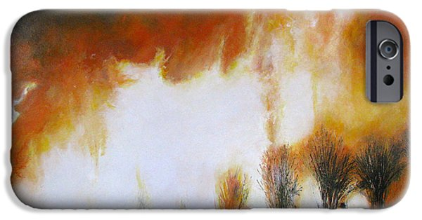Abstract Expressionist iPhone Cases - Cane Burning iPhone Case by Christopher Chua