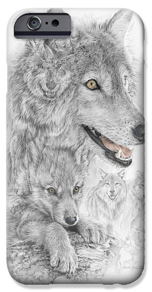 Canis Lupus Mixed Media iPhone Cases - Canis Lupus V The Grey Wolf of the Americas - The Recovery  iPhone Case by Steven Paul Carlson