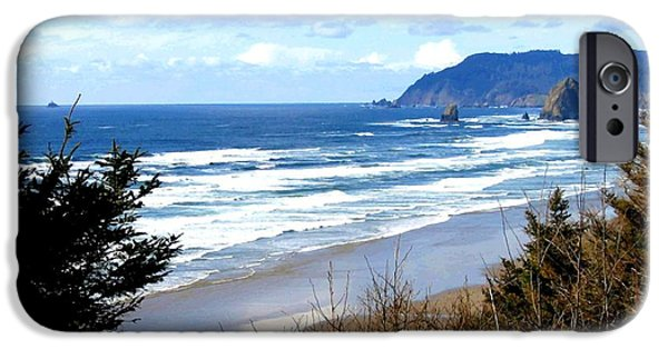Intrigue iPhone Cases - Cannon Beach Vista iPhone Case by Will Borden