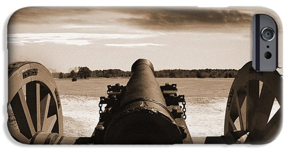 Yorktown Virginia iPhone Cases - Cannon View Yorktown Battlefield iPhone Case by Nancy Comley