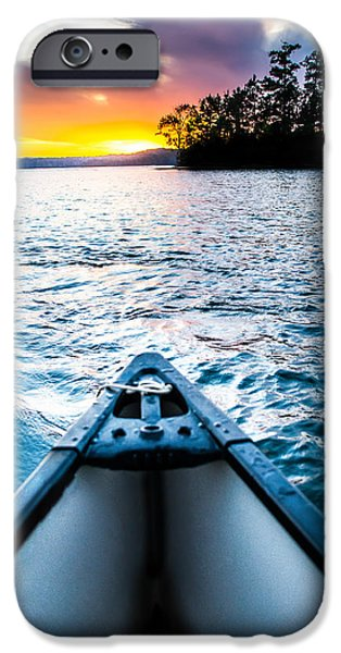 Recently Sold -  - Sailboat iPhone Cases - Canoeing in Paradise iPhone Case by Parker Cunningham