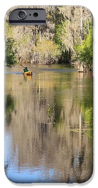 Canoeing on the Hillsborough River iPhone Case by Carol Groenen