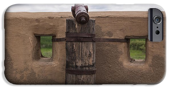 Historic Site iPhone Cases - Canon at the Fort iPhone Case by Lynn Sprowl