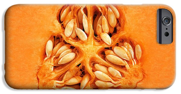 Raw iPhone Cases - Cantaloupe Melon Inside iPhone Case by Johan Swanepoel