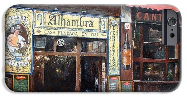 Facade iPhone Cases - Cantina Alhambra 1 iPhone Case by Tomas Castano