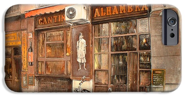 Facade iPhone Cases - Cantina Alhambra iPhone Case by Tomas Castano