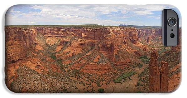 Chelly iPhone Cases - Canyon De Chelly HDR Panorama iPhone Case by Samuel Kessler