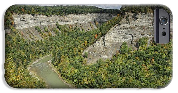 River iPhone Cases - Canyon in New York iPhone Case by Christian Heeb