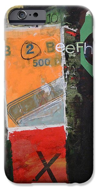 Cardboard Mixed Media iPhone Cases - Cap 10 Beefh art   -M- iPhone Case by Cliff Spohn
