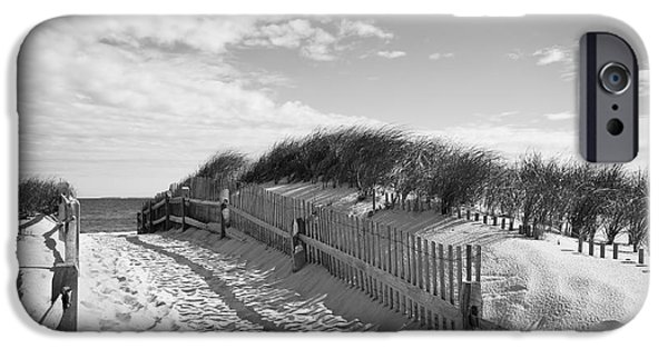 Cape Cod iPhone Cases - Cape Cod Beach Entry iPhone Case by Mircea Costina Photography