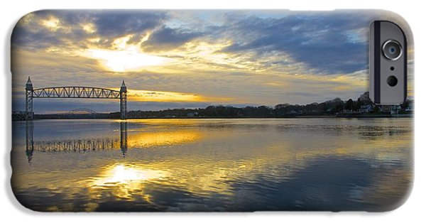 Recently Sold -  - Bay Bridge iPhone Cases - Cape Cod Canal Sunrise iPhone Case by Amazing Jules
