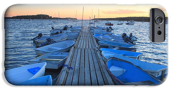 Cape Cod iPhone Cases - Cape Cod Harbor Boats iPhone Case by John Burk