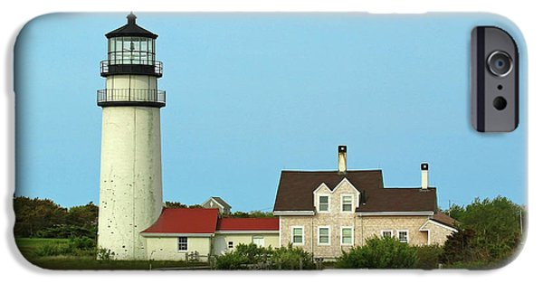 New England Lighthouse Photographs iPhone Cases - Cape Cod Highland Lighthouse iPhone Case by Juergen Roth