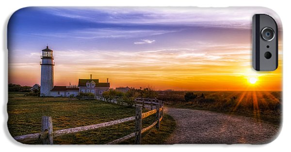 New England Lighthouse iPhone Cases - Cape Cod Light iPhone Case by Mark Papke