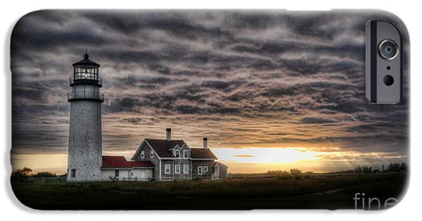 Storm Clouds Cape Cod iPhone Cases - Cape Cod Lighthouse iPhone Case by TK Goforth