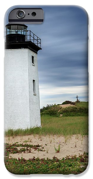 New England Lighthouse iPhone Cases - Cape Cod Long Point Lighthouse Square iPhone Case by Bill Wakeley