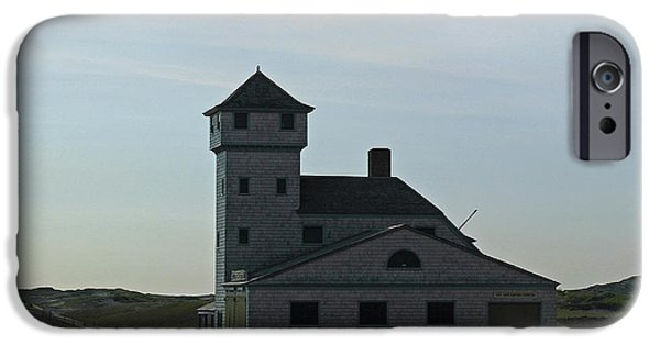 New England Lighthouse iPhone Cases - Cape Cod Old Harbor Life Saving Station iPhone Case by Juergen Roth