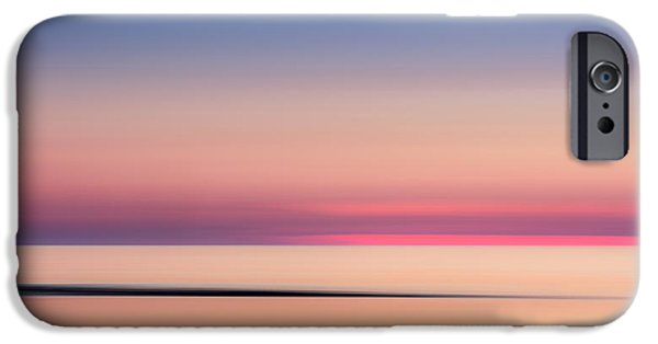 Abstract Seascape iPhone Cases - Cape Cod Sunset Colors iPhone Case by Bill Wakeley