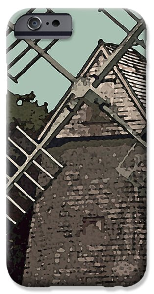 Abstract Digital Photographs iPhone Cases - Cape Cod Windmill iPhone Case by Jean Hall