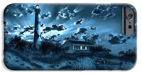 Cape Lookout iPhone Cases - Cape Lookout Lighthouse 3 iPhone Case by MB Art factory