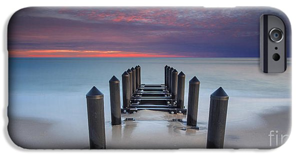 Jersey Shore iPhone Cases - Cape May Beach iPhone Case by Marco Crupi