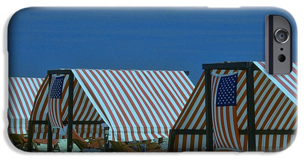American Flag iPhone Cases - Cape May Cabanas 4 iPhone Case by Allen Beatty