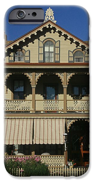White House iPhone Cases - Cape May Gingerbread House iPhone Case by Allen Beatty