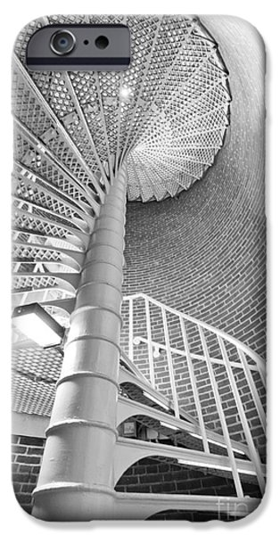 Staircase iPhone Cases - Cape May Lighthouse Stairs iPhone Case by Dustin K Ryan