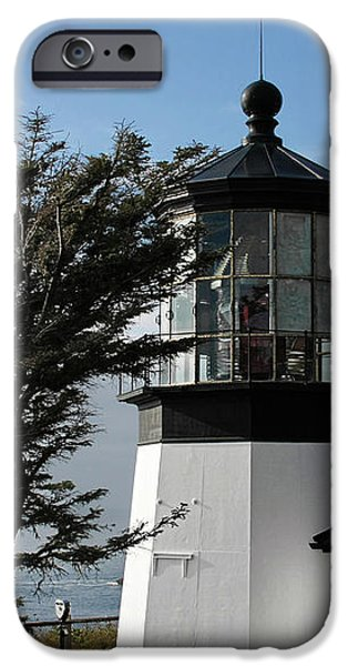 Cape Meares Lighthouse near Tillamook on the scenic Oregon Coast iPhone Case by Christine Till