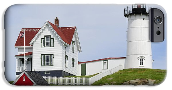 Nubble Lighthouse iPhone Cases - Cape Neddick Light iPhone Case by Luke Moore
